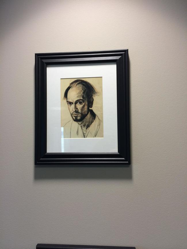 A self-portrait of William Utermohlen from 1961